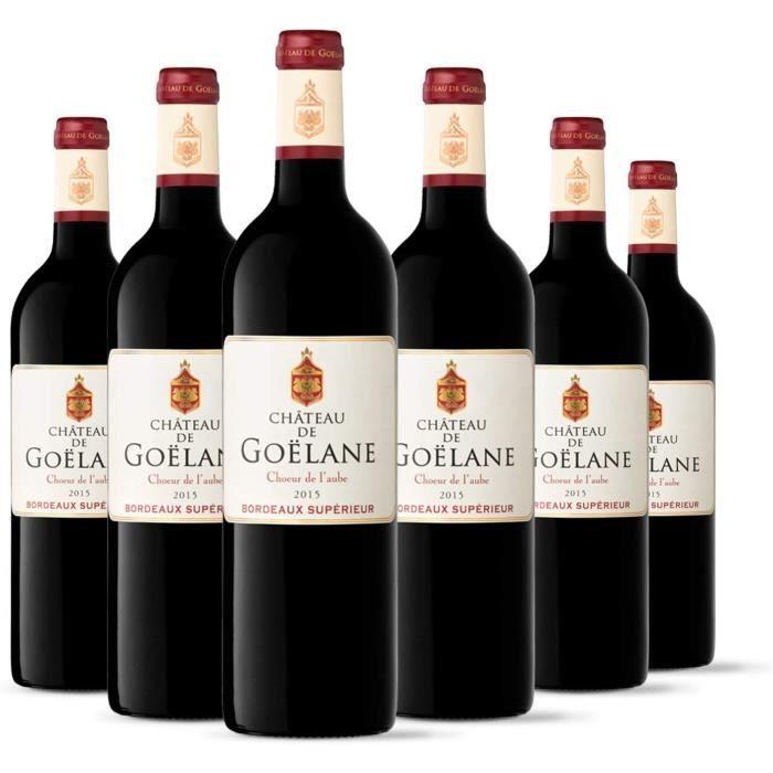 Château de Goelane Chœur de l'Aube - AOP Bordeaux Supérieur - Vin Rouge - Millésime 2015 - Terra Vitis - Lot de 6 bouteilles x 75 cl