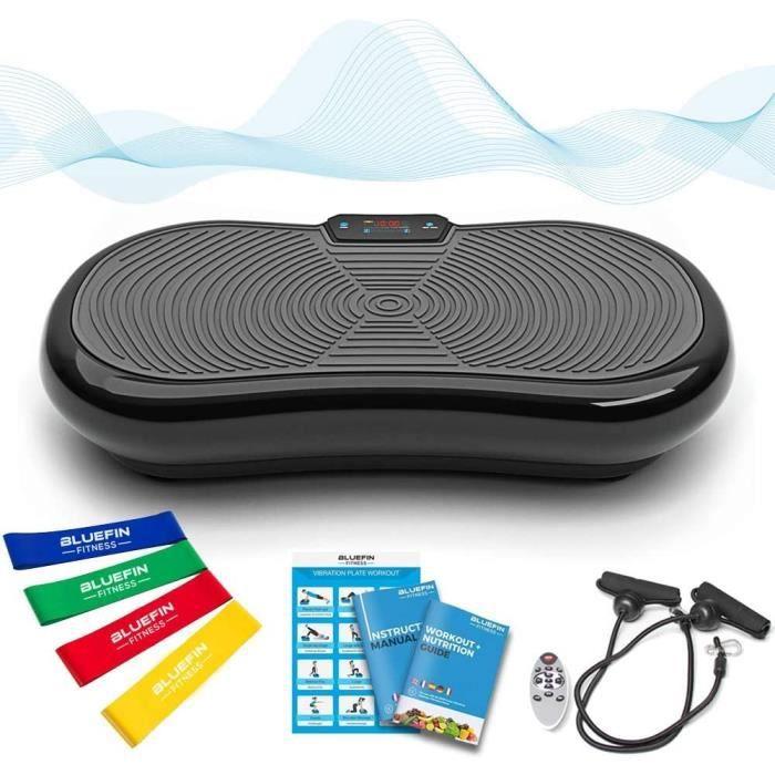 Bluefin Fitness Plateforme Vibrante et Oscillante Ultra Slim - Perte de Poids & Brûleur de Graisses à la Maison - 5 Programmes + 180