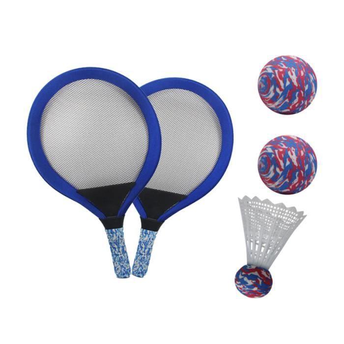 1 jeu de raquettes de tennis pour enfants de forme ovale de de badminton pour la plage RAQUETTE DE TENNIS - CADRE DE TENNIS