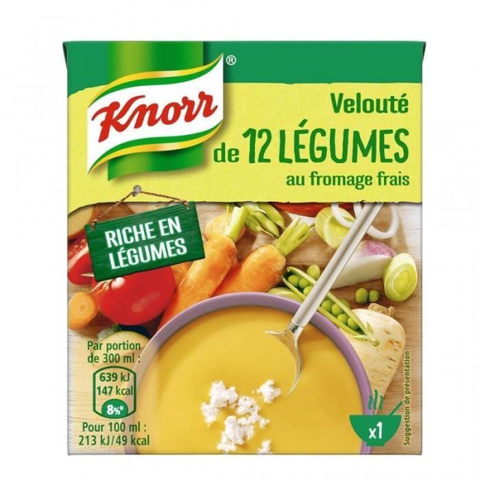 Knorr Velouté 12 Légumes au Fromage Frais 30cl (lot de 6)