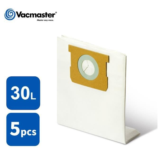 Vacmaster – sacs à poussière de Filtration pour aspirateur 30L, sacs à poussière pour accessoires d'aspirateur, 5 pi*AK5654