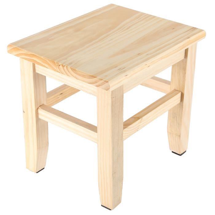 Tabouret en bois, tabouret en bois massif, chambre de haute qualité pour salle de bain salle de bain buanderie