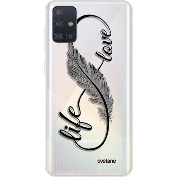Coque Samsung Galaxy A51 5G 360 intégrale transparente Love Life Ecriture Tendance Design Evetane.