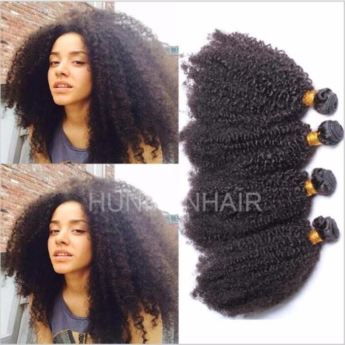 3 tissage Bresilienne Humain Cheveux Afro Kinky Curly Naturel Virgin Brazilian 8