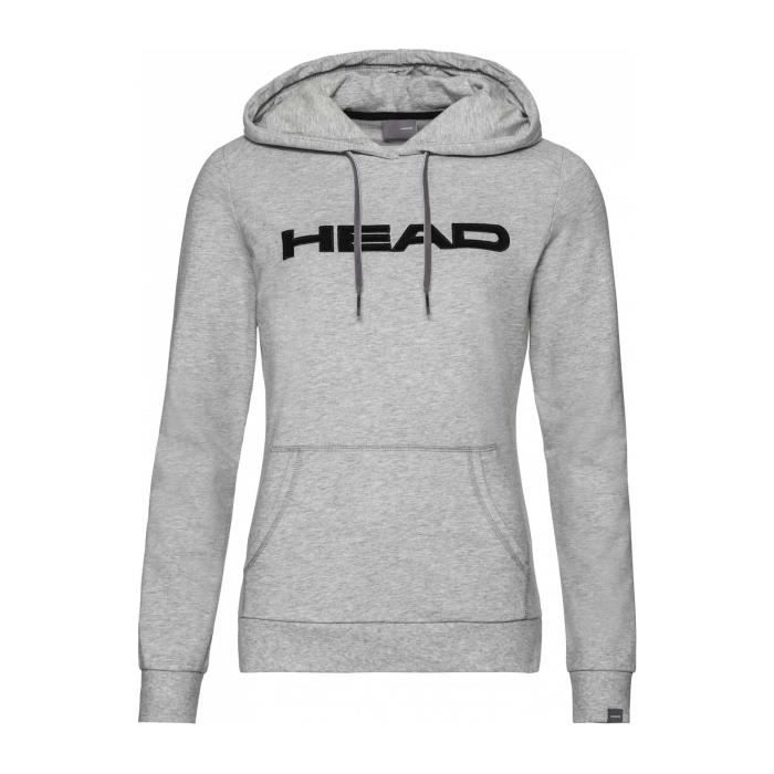 Head - Club Rosie Sweat à capuche Femmes Tennis chandail (gris) - XS