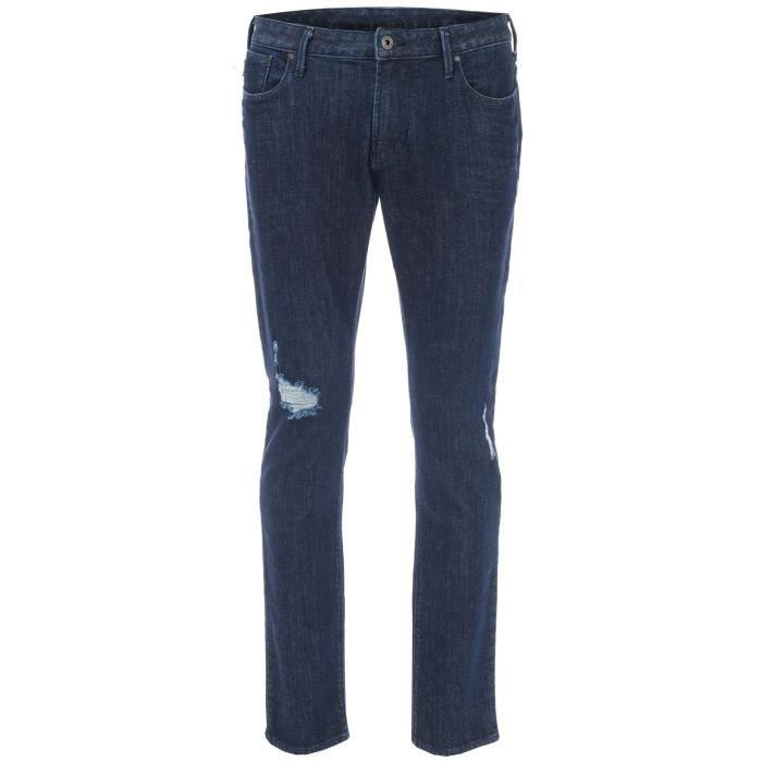 Jean Armani Jeans J06 Slim Fit Pour Homme En Bleu Foncé