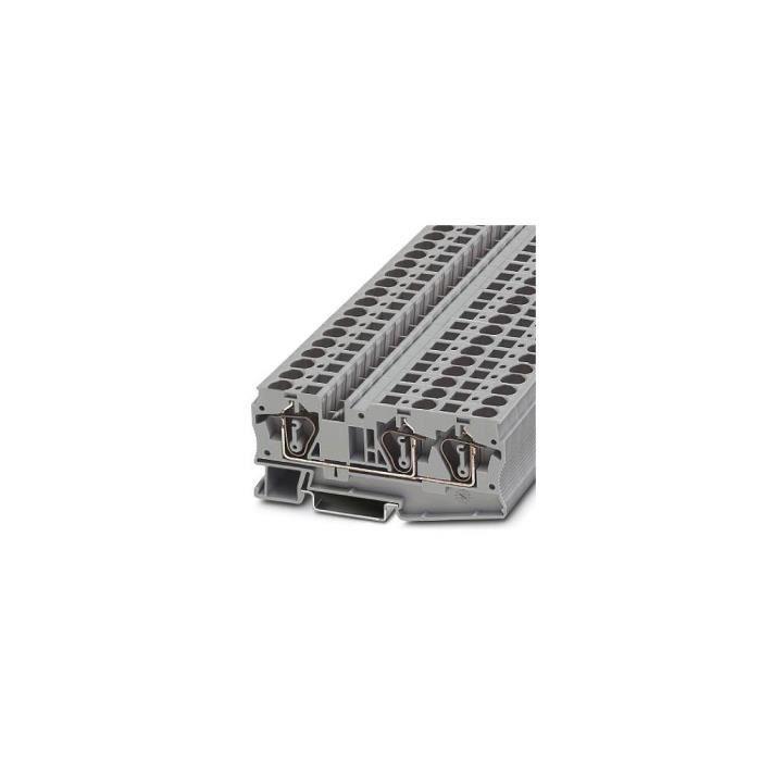 Bloc de jonction simple gris Contenu: 50 pc(s) Phoenix Contact ST 6-TWIN 3036466