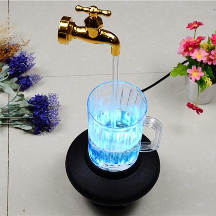 Robinet d'arrosage à bec invisible, robinet à changement de couleur flottant pour fontaine, pour la décoration de jardin à la maison