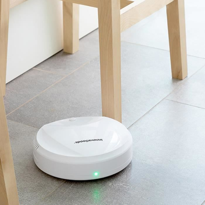 SHOP-STORY - ROVAC 1000 : Le Robot Aspirateur Intelligent Rechargeable au Design Compact