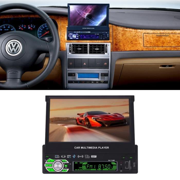 Autoradio Voiture 1-din Poste Radio Voiture Mp5 Fm Bluetooth Aux écran Tactile - Yonis Noir