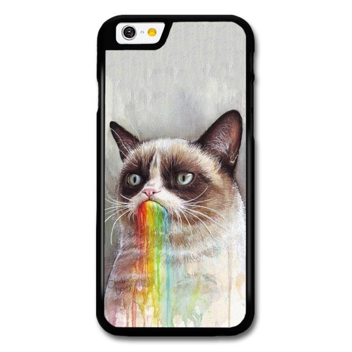 grumpy cat puking rainbow coque pour iphone 6