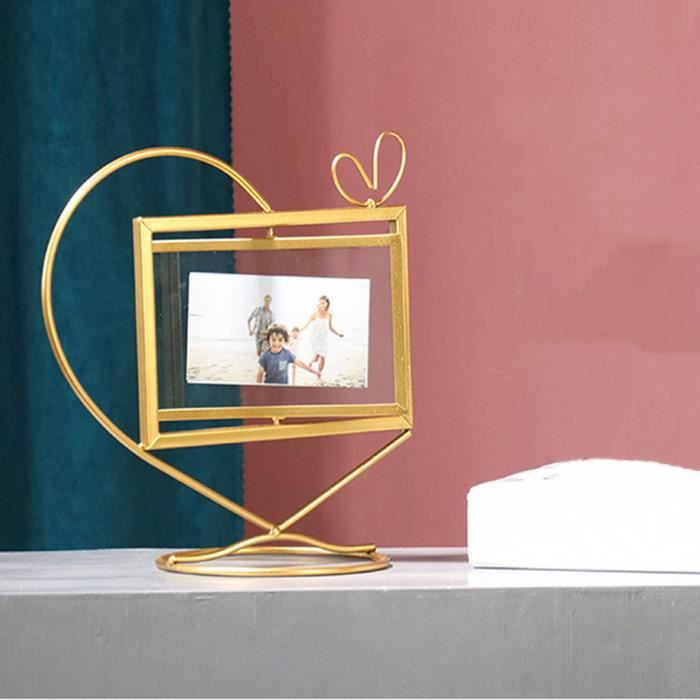 CADRE PHOTO Géométriques d'or métal photo Cadre photo Cadre ph