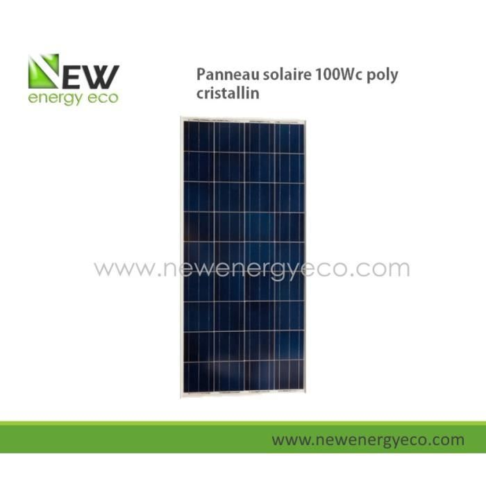 panneau solaire 100w polycristallin achat vente kit. Black Bedroom Furniture Sets. Home Design Ideas