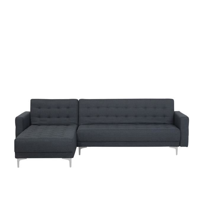 canap convertible canap gris bleu canap en tissu aberdeen achat vente canap sofa. Black Bedroom Furniture Sets. Home Design Ideas