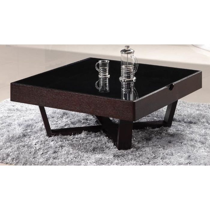 Table basse carr e design weng tera achat vente table basse - Table basse carree design ...