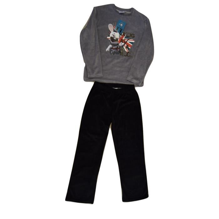 pyjama lapins cr tins velours 12 ans achat vente. Black Bedroom Furniture Sets. Home Design Ideas