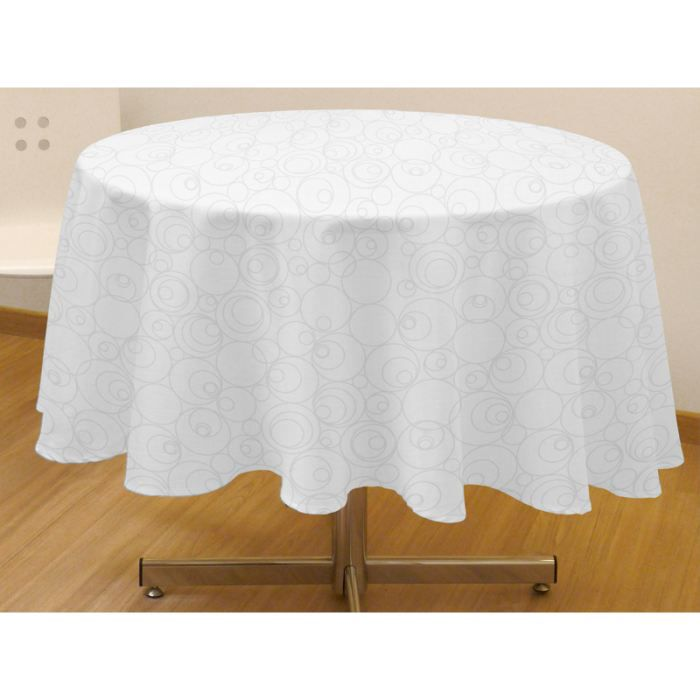nappe ronde blanche 240 tissu table de cuisine. Black Bedroom Furniture Sets. Home Design Ideas