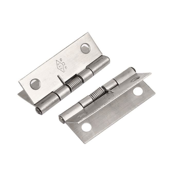 sourcingmap/® 38mm en acier inoxydable long ressort s/écurit/é s charni/ères de porte