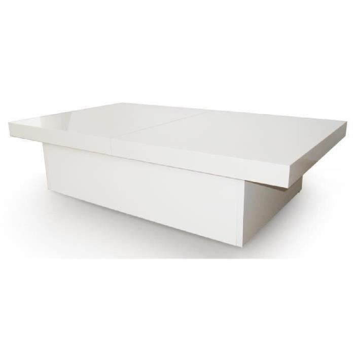 Table basse blanche for Table basse blanche pas cher