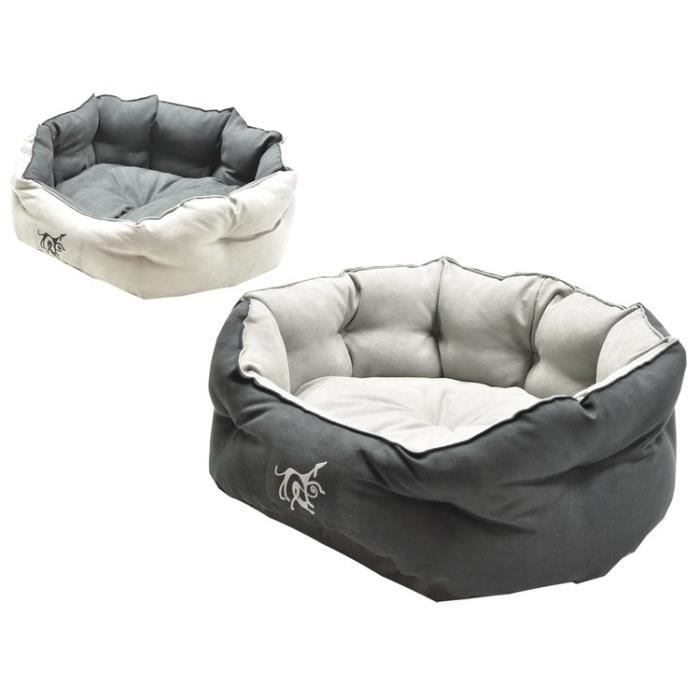 vadigran panier softy pour chien gris noir 55cm achat vente corbeille coussin panier softy. Black Bedroom Furniture Sets. Home Design Ideas