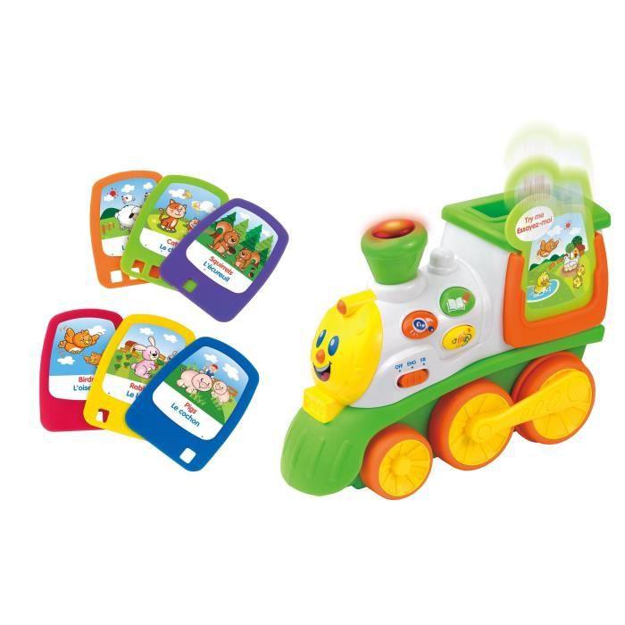 HAPPY KID Mon Premier Train Parlant - Jouet D'activité premier age