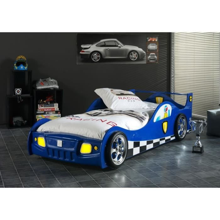 monza sleepcar lit voiture enfant bleu 90x200 cm achat. Black Bedroom Furniture Sets. Home Design Ideas