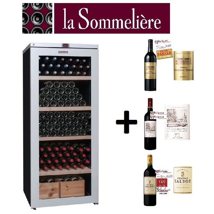 pack cave vin vins rouges la sommeliere vip 265v de vieillissement cantbrown14. Black Bedroom Furniture Sets. Home Design Ideas
