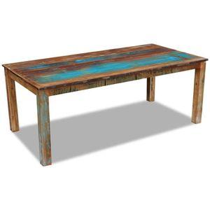TABLE À MANGER SEULE MILLIONTEK - Table de salle à manger Bois de récup