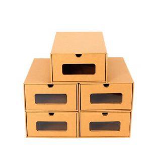 BOITE POUR ALIMENTATION 10PCS Boîte à Chaussures en Papier Epais Boîte de