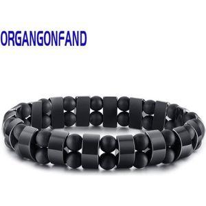 BRACELET - GOURMETTE Bracelet Homme La mode Bijoux Noir Double peau Tis