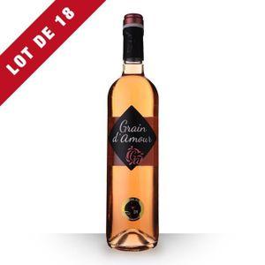 VIN ROSÉ 18X Grain d'Amour Rosé 75cl Vin de France - Vin Ro