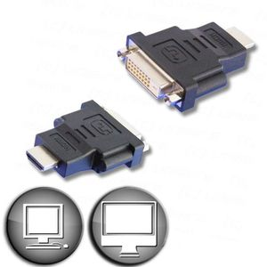CÂBLE TV - VIDÉO - SON LINEAIRE ADHD110 Adaptateur HDMI mâle / DVI-D feme