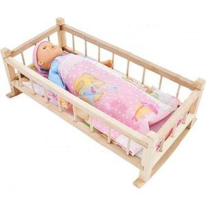 MAISON POUPÉE Lit à bascule en bois pour poupée jouet enfant pou