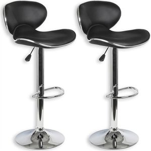 TABOURET DE BAR Lot de 2 tabourets de bar LOUNGE chaise haute desi