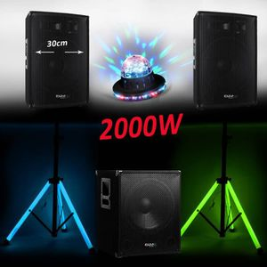 PACK SONO PACK Sonorisation DJ Complet 2000W CUBE-1512 CAISS