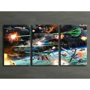 TABLEAU - TOILE 3Pcs Star Wars Space Battle Toile Tableau Home Déc