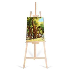 Amazinggirl Chevalet Peinture Bois Pin pour Les Enfants 180 CM Grand tr/épied r/églable Support de pr/ésentation