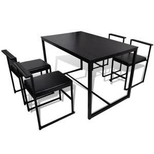TABLE DE CUISINE  5 pièces Set de 1 table de bar et 4 tabourets Ense