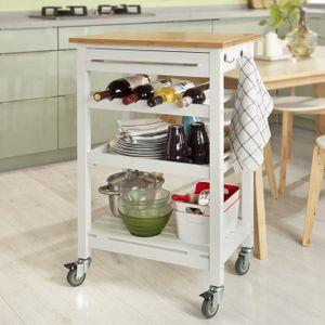 DESSERTE - BILLOT SoBuy® FKW16-WN Table roulante meuble de rangement