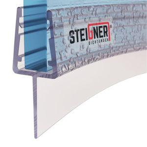 STEIGNER 180cm Joint de douche arrondi courb/é pour les vitres d/'une /épaisseur 3,5 mm// 4 mm// 5 mm UK04