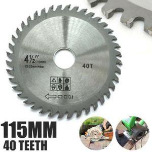 165mm 60 Dents Meuleuse Angle Lames de Scie pour Bois Disques Découpe Circulaire