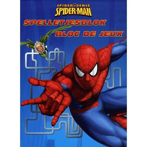 bloc de jeux spider man achat vente livre chantecler chantecler parution 17 04 2009 pas cher. Black Bedroom Furniture Sets. Home Design Ideas