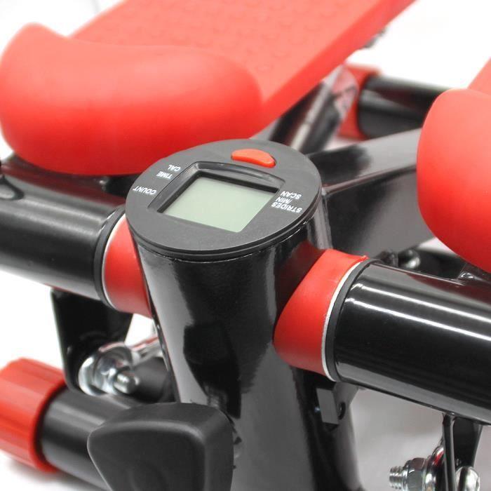 BUL Mini Stepper avec Compteur - Rouge - Mini stepper pour l'ecercise à Domicile