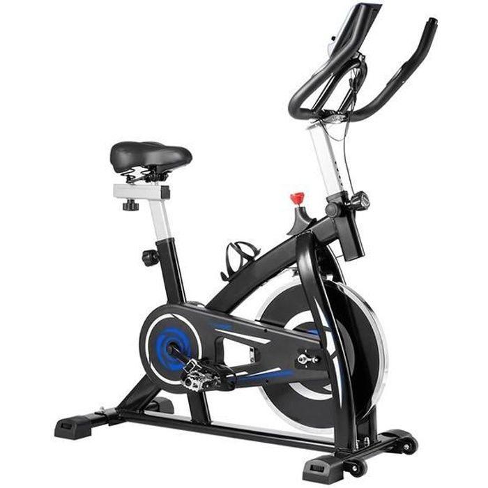 Vélo d'appartement YS-S05 Vélo biking avec accessoires et outils à courroie réglable Sport avec moniteur numérique - Bleu
