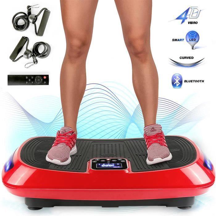 KEISHA Plateforme vibrante 4D oscillante,Shaper plate plateforme plaque avec 2 Cordes de Traction ,Pour maigrir cardio Fitness