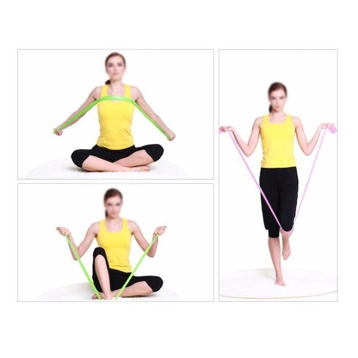 bandes élastiques Boucle d'exercice fitness résistance pour Yoga Pilates Gym chevilles, jambes, genou ou bras - Bleu
