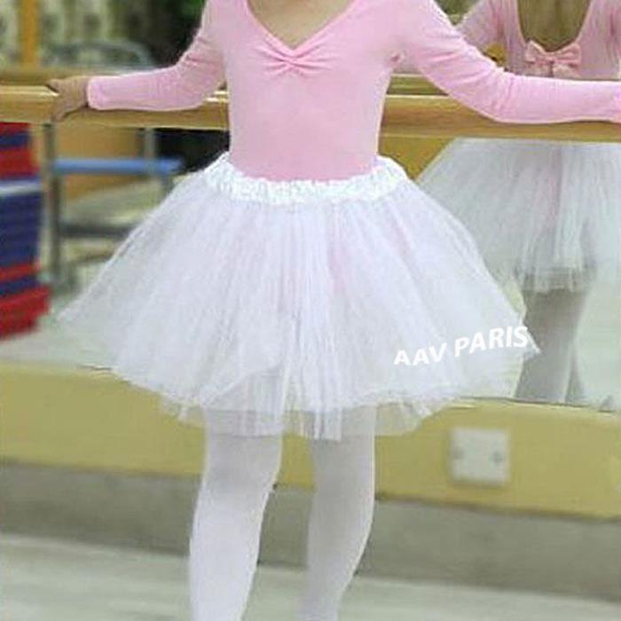 Tutu de Ballet Danse Soirée Jupe Jupon pour filles - taille unique - noir