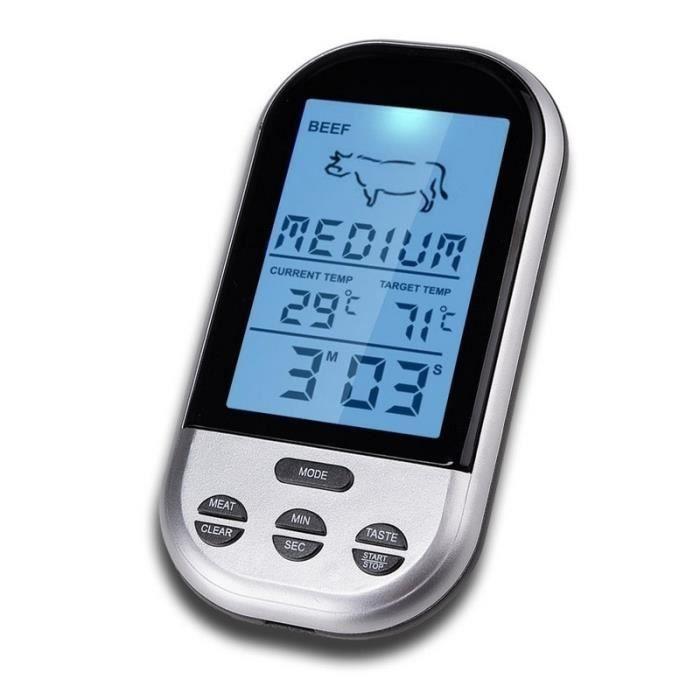 Thermomètre BBQ sans fil thermomètres numériques minuterie four Grill viande cuisson à distance Barbecue - Modèle: B - HSCFDSB02847