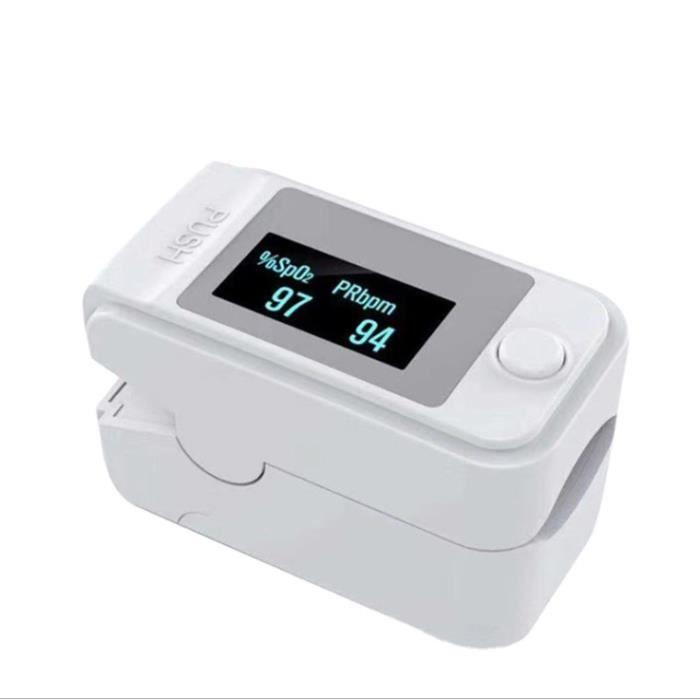 Moniteur de fréquence cardiaque SpO2 avec écran OLED (saturation) (Blanc)