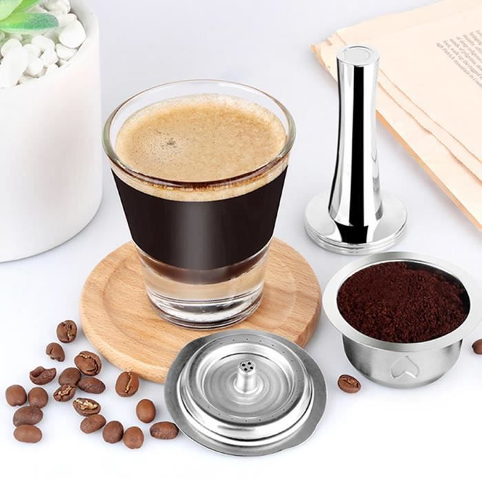 EBTOOLS filtre de capsule de café Accessoire de kit de filtre de tasse de capsule de café réutilisable d'acier inoxydable de 230